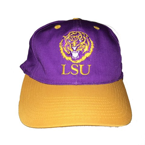 3384704a6 90s Vintage LSU Logo Athletic SnapBack Amazing I was an LSU - Depop