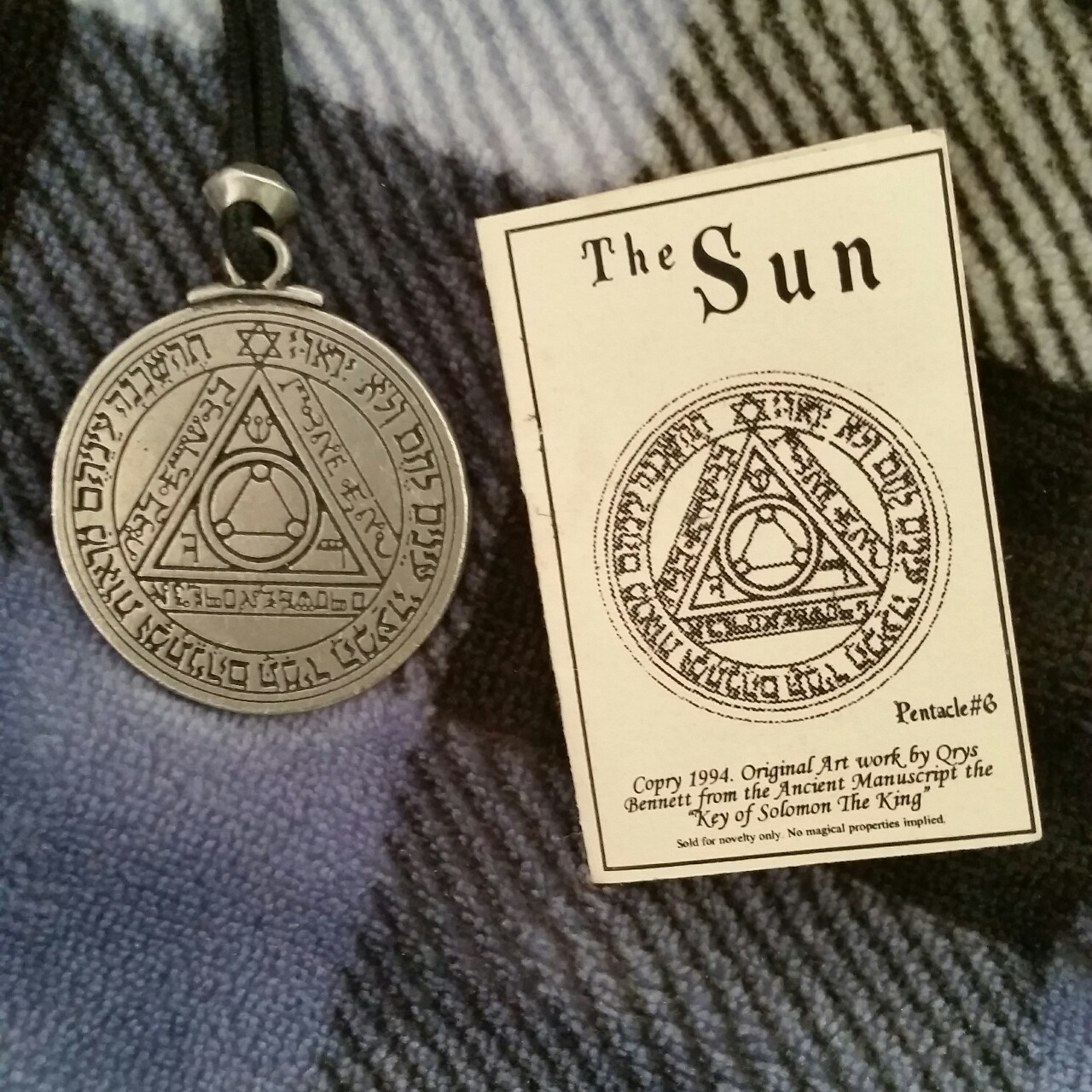Seal of Solomon necklace  #occult #goth #grunge #wicca