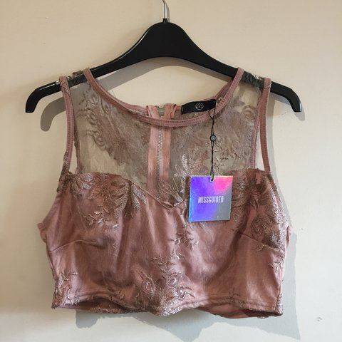 0935781ac64 @lunalust1. 16 hours ago. Manchester, United Kingdom. Missguided size 8  blush pink lace crop top.