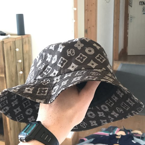 STUSSY monogram (Louis Vuitton) bucket hat rip off. Genuine - Depop 09b562f015ca