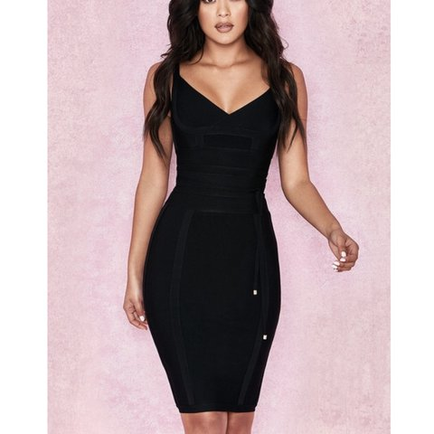 ca17e758b976 House of CB Belice black bandage dress size XS new with tags - Depop