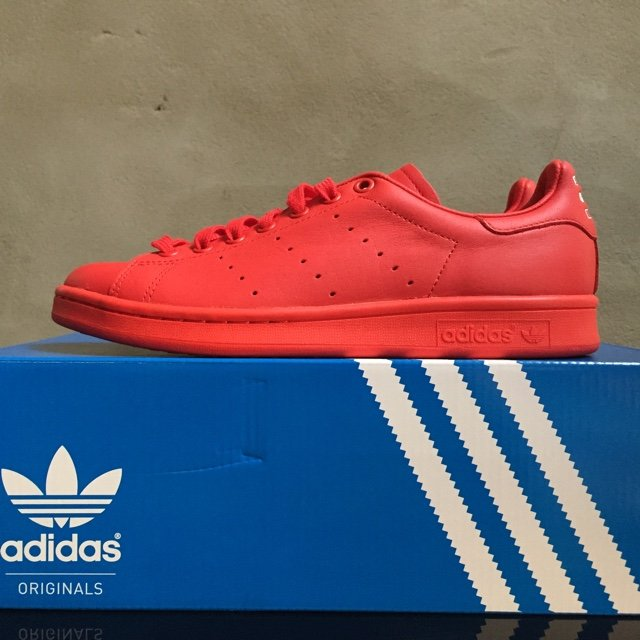 ... france adidas stan smith x pharrell solid pack in red size 7 uk depop  2ca4d 69171 938479050