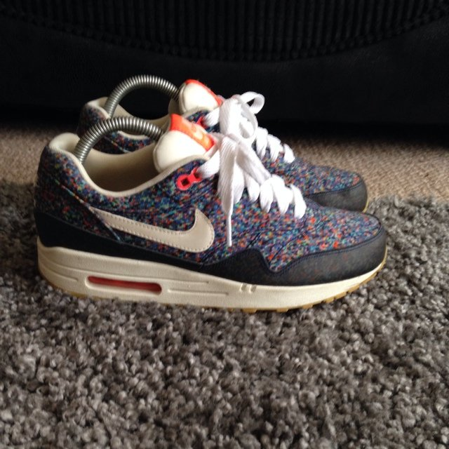 size 40 1e6bc a270c Nike x Liberty London Air Max 1 Pixel Print Womens Liberty nike air max  pixel pack, uk6 8.5 10 condition, £65 - Depop ...