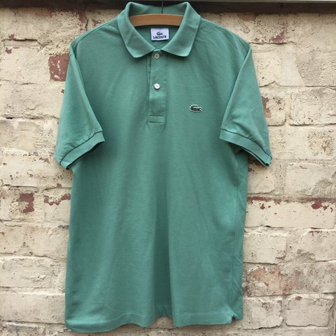 e031c8994 Mint green vintage Lacoste polo shirt! Size 3 which is a - Depop