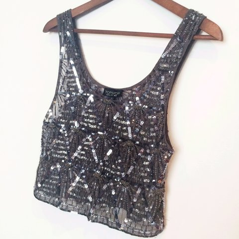 fb2141c4ed TOPSHOP gorgeous embellished crop top bralet • size 8 • and - Depop