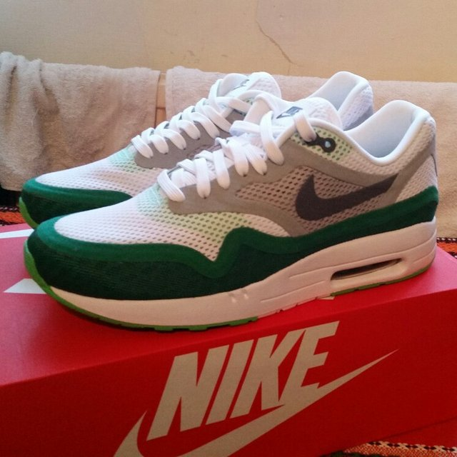 online retailer 694cd bf522  domdiego14. 5 years ago. Brixton, London, UK. Nike Air Max 1 Breath - Green  White