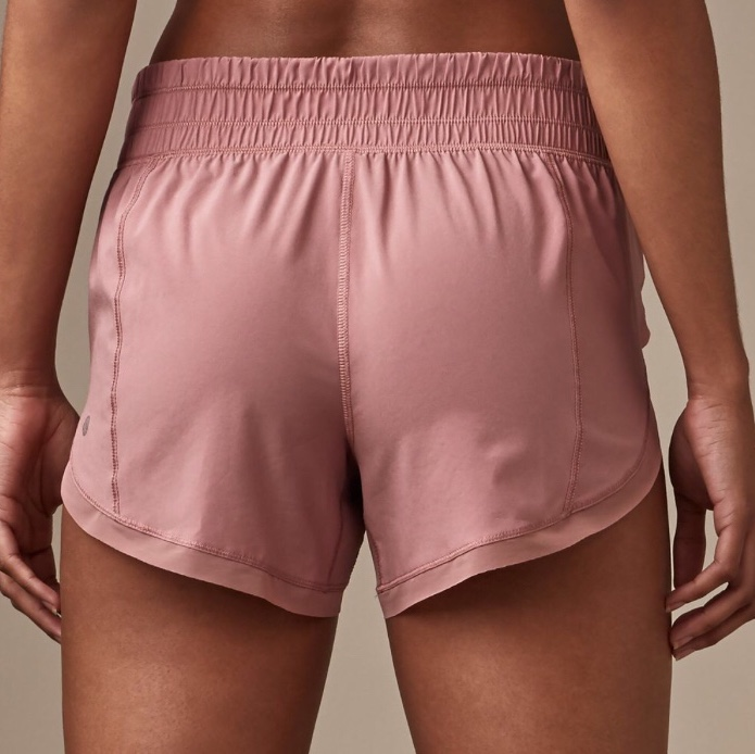 Lululemon Light Pink Mauve Running Short Built In Depop