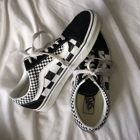 b5831be940  bryhersmith. 11 months ago. United Kingdom. Black and white checked    checkboard   checkered old skool vans ...