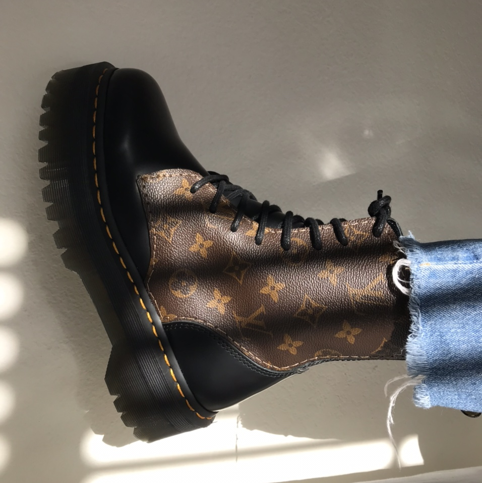 LV Doc Marten Boots made with authentic
