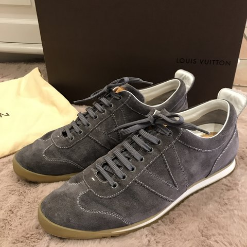 619c4df130ea  mousemarket. 9 days ago. United Kingdom. Louis Vuitton men s grey suede  trainers size 8 worn in good condition comes with original ...