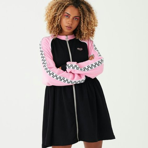 6b73075f0df Lazy oaf sports club zip sweater dress size S M brand new in - Depop