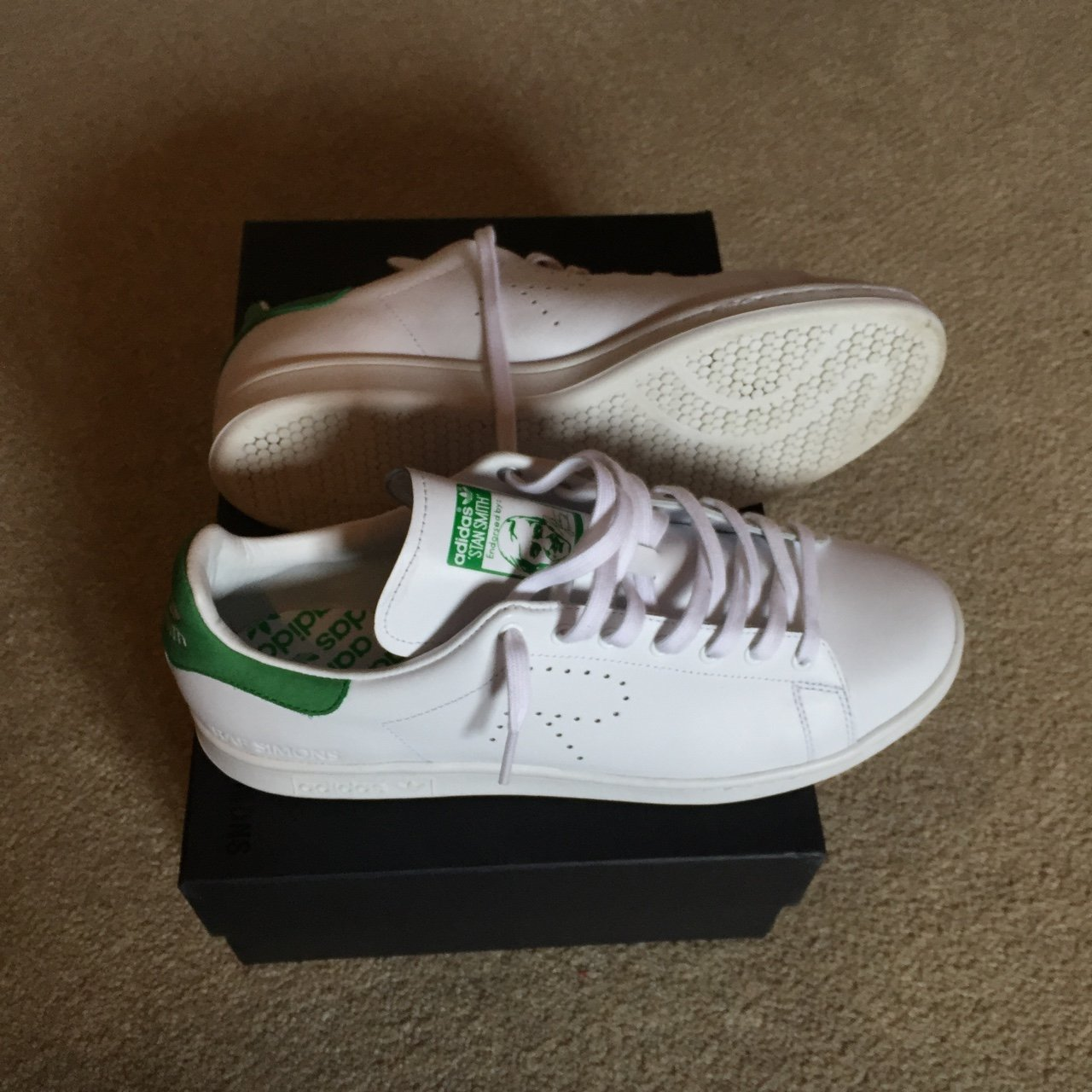 ac96bb60a310a3 Adidas Stan smith X raf Simmons. UK 10 (selling as they re I - Depop