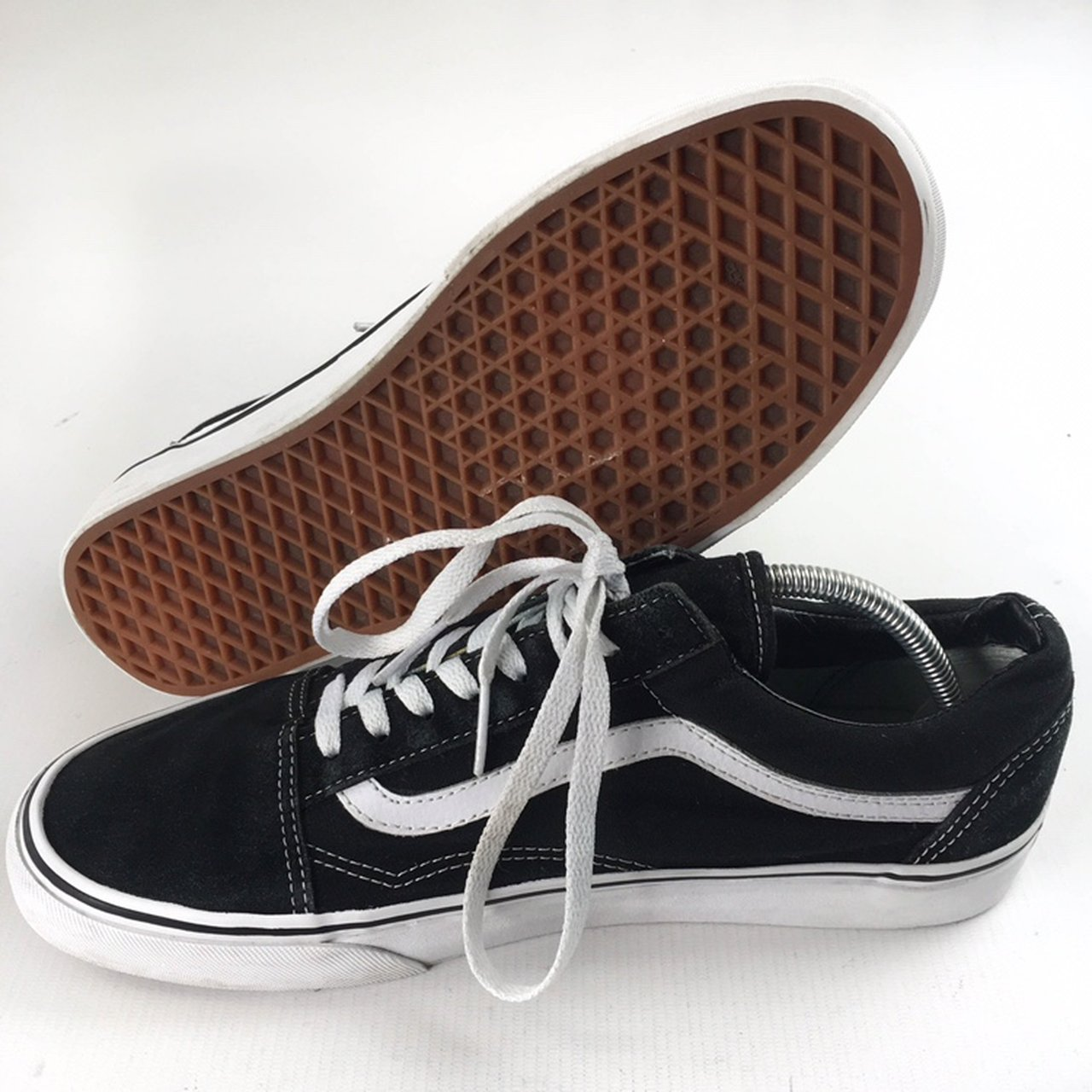 64a3fc7fbe2841 Vans Old Skool Size  UK 10 Colour  Black White Condition  - Depop