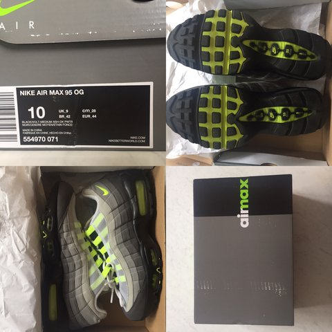 official photos 0f180 60cde  donkadonkadonk. 2 years ago. London, United Kingdom. Nike Air Max 95 AM95 OG  neon volt - size 9 ...