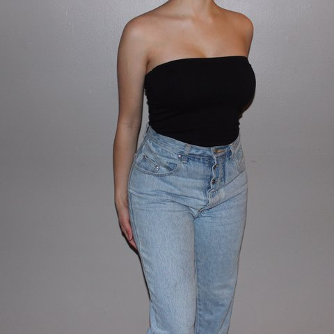 776ba54fc3a Simple sexy black tube top, can be worn casually or for a - Depop