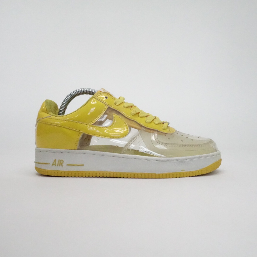Retro Nike Air Force 1 Yellow Transparent Clear See Depop
