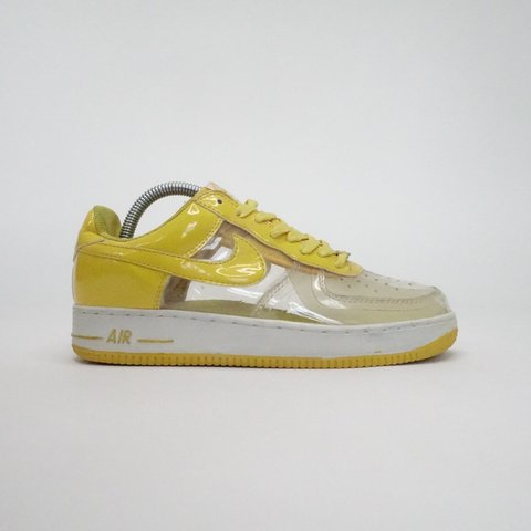 best website 68670 a12ae  sbrealxclusive. 4 months ago. Stamford, United States. Retro Nike Air  Force 1 Yellow Transparent Clear See Thru Invisible ...