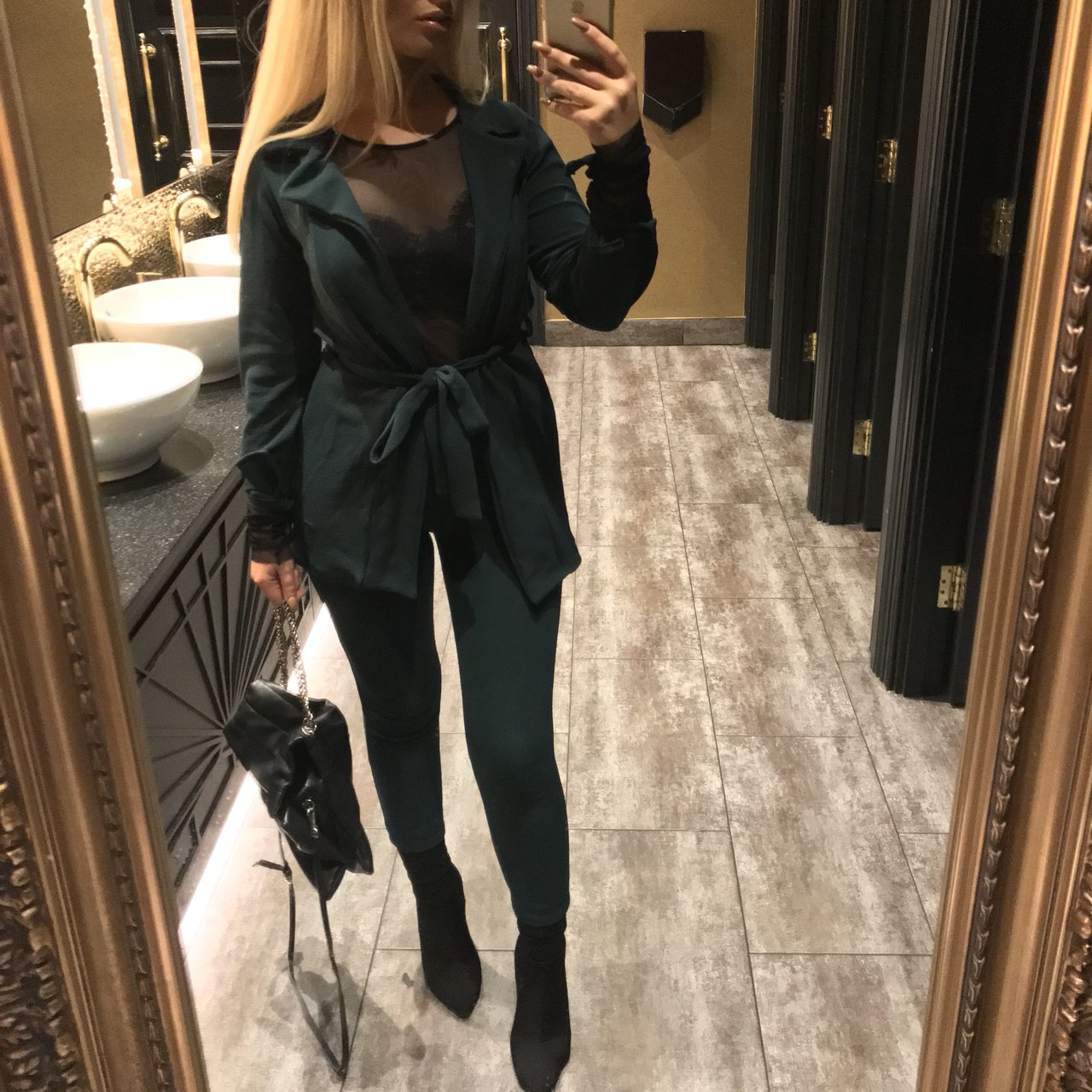 777b723c3 @josiecullen. last year. Huntingdon, United Kingdom. Emerald green PLT petite  suit / coord. Top size 6 bottoms size 8 ...
