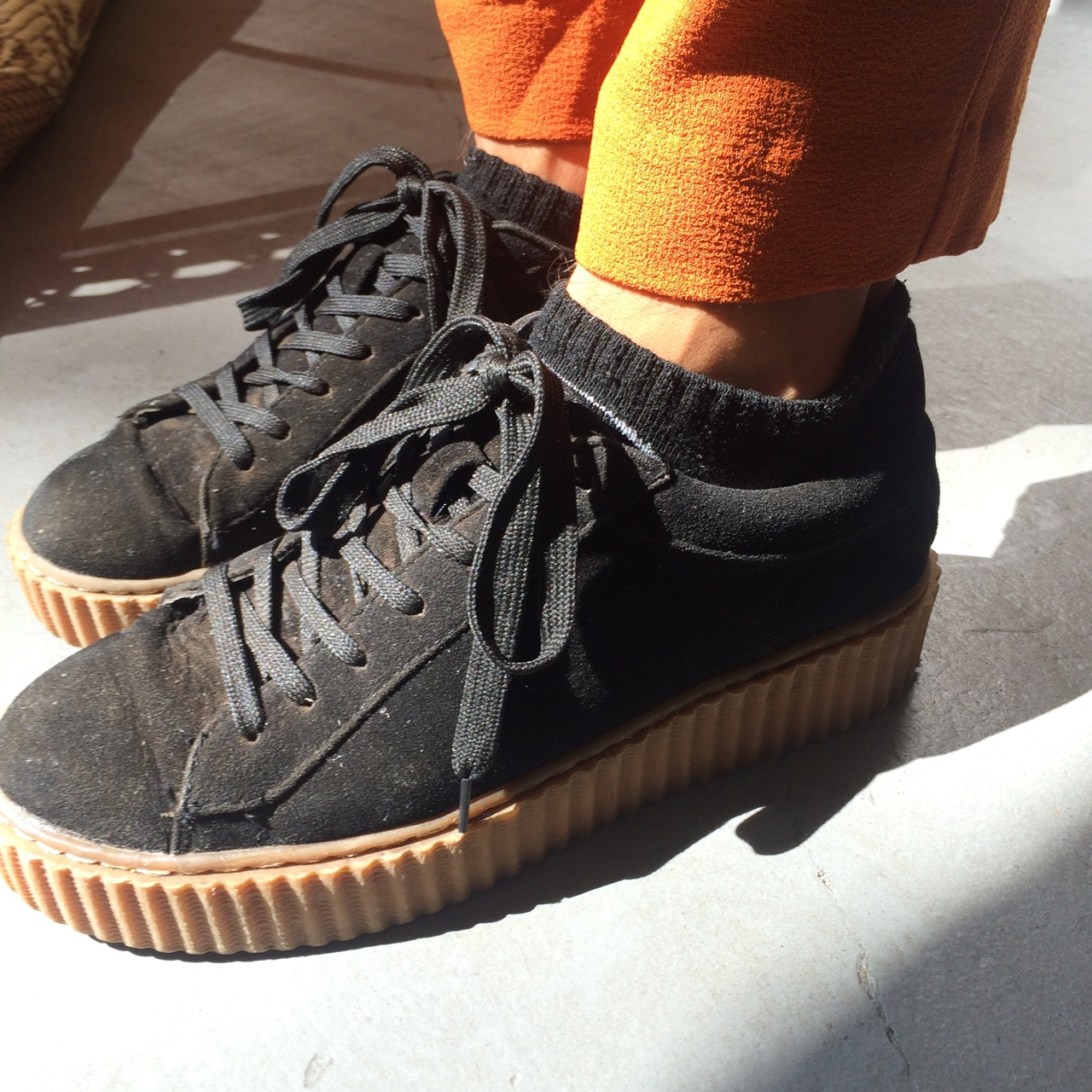 wholesale dealer 58aa9 73255 FAKE Puma Rihanna Fenty Creepers. Faux suede. Only ...