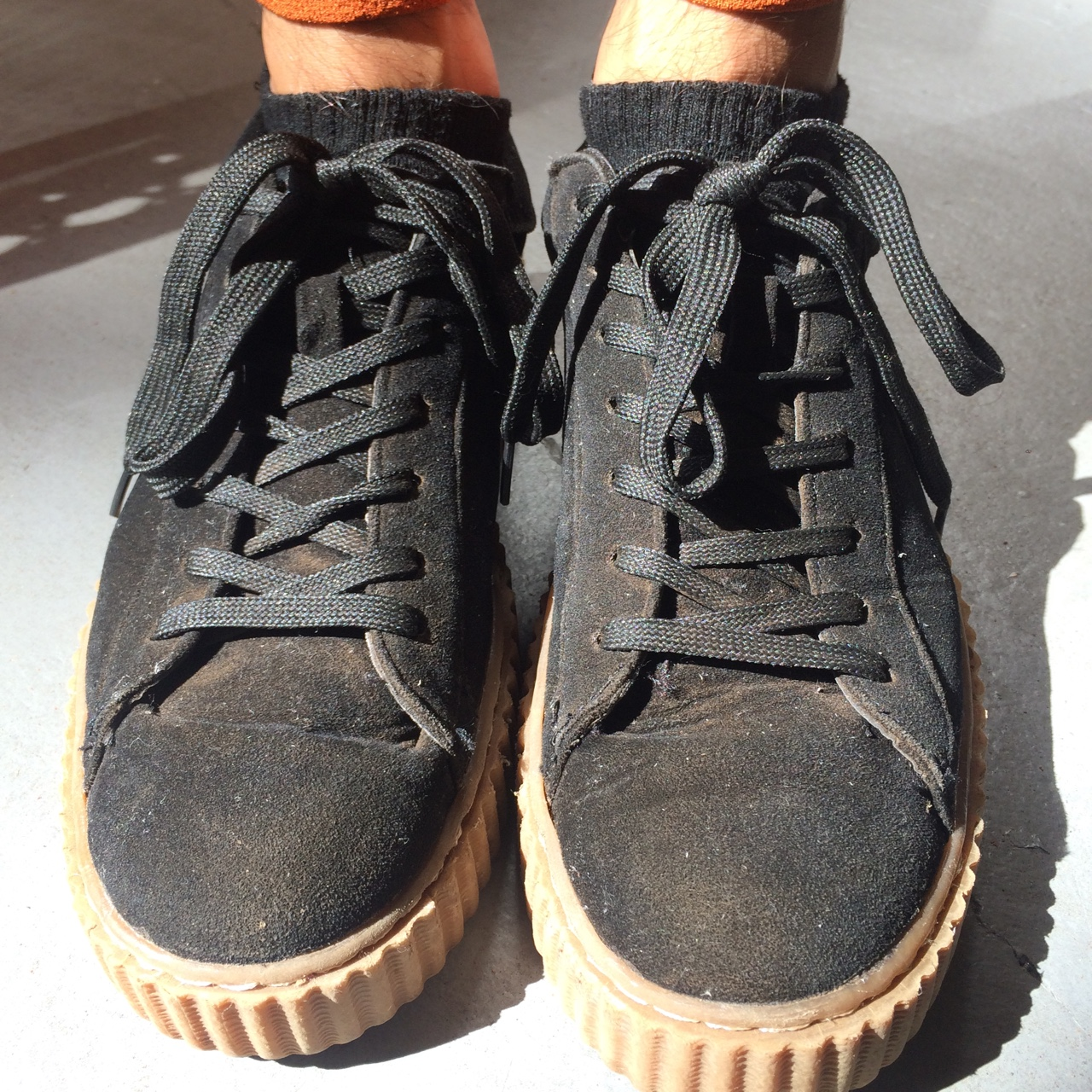 huge selection of 62e16 55a58 FAKE Puma Rihanna Fenty Creepers. Faux suede. Only... - Depop