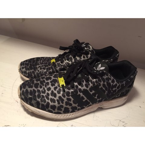 the best attitude def11 05ed1 Adidas Zx Flux  Grey Cheetah  print• Previously worn but in - Depop
