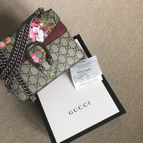 16845097a185 @roseawhi. 2 years ago. Leicestershire, UK. Gucci Dionysus GG Blooms mini  bag. In perfect condition ...