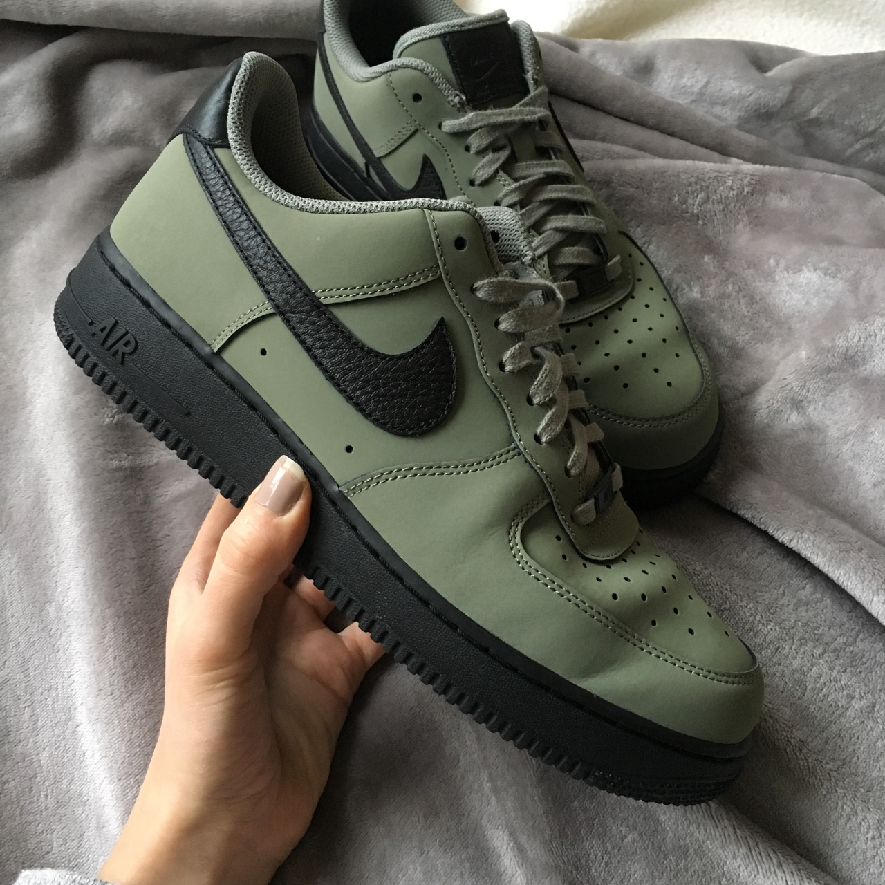 détaillant en ligne 82c3a c5663 Nike Air Force 1 JD Exclusive Green size UK 8, used... - Depop