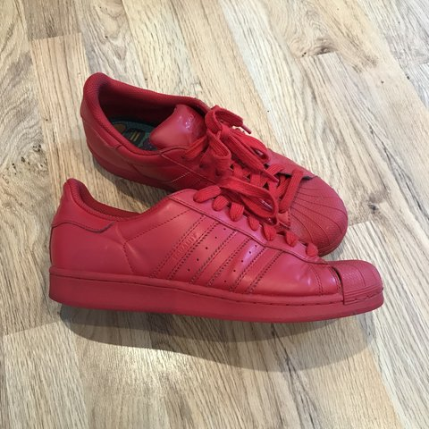 a7e161282 All Red  Pharrell Williams  Adidas originals for the range 8 - Depop
