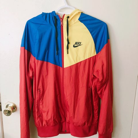 3219972a2454 Vintage Nike windbreaker. Primary colors. Great condition. a - Depop