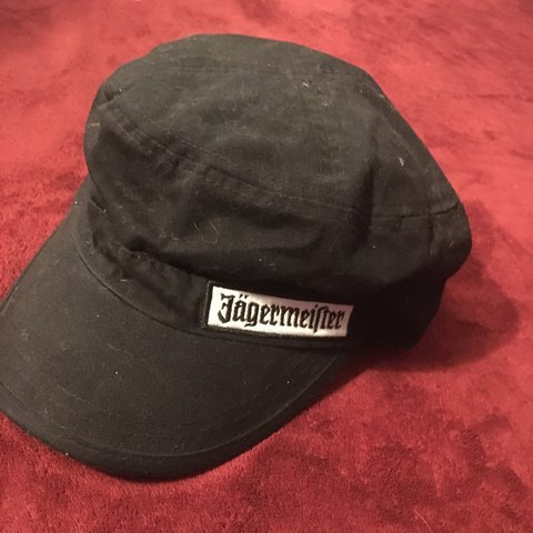 1df137105a907 Official Jagermeister military style hat. Adjustable. Never - Depop