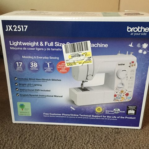 Brother JX40 Lightweight And Full Size Sewing Machine 40 Depop New How To Setup A Brother Jx2517 Sewing Machine