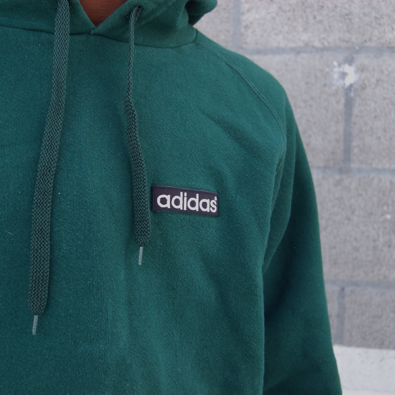 Vintage Adidas army green hoodie made in USA fits Depop