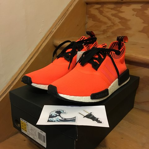 26e421835c2a6 Adidas NMD R1 PK Orange Noise  Invisible Pack  Size   - Size - Depop