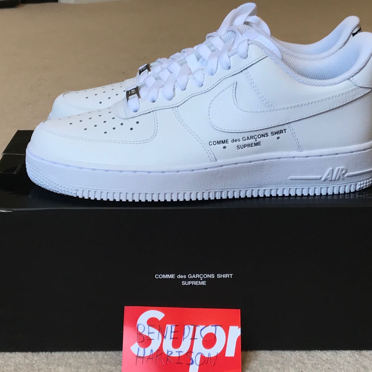 online store 0014b 21e92 Supreme x CDG x Nike Air Force 1 Lows, EXTREMELY ...