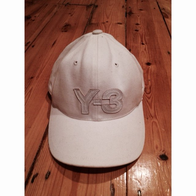 dd3b5cb42b251 BNWT Y-3 Cap with Embroidered Logo. Colour is white and the - Depop