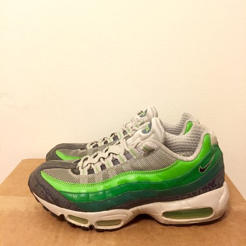a29bb13ce5 @daranuon. 2 years ago. Adelphi, MD, USA. Nike Air Max 95 in green/grey.  Part of the Nike rejuvenation ...