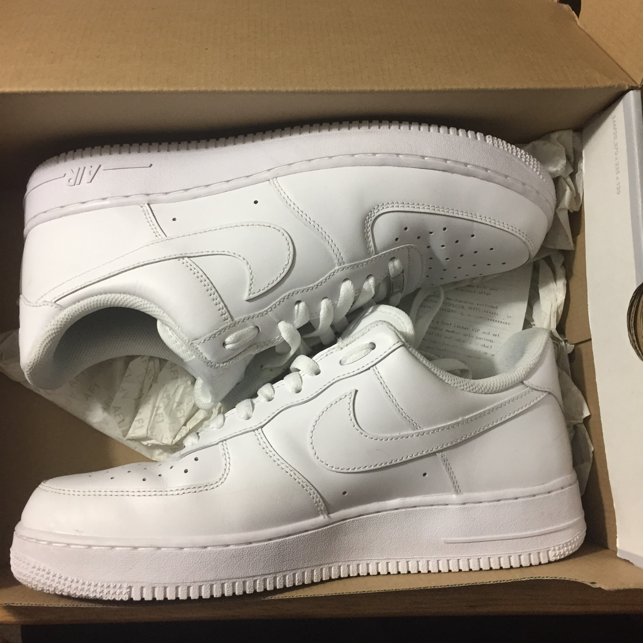 Nike Air Force 1 size 11 Cocaine White