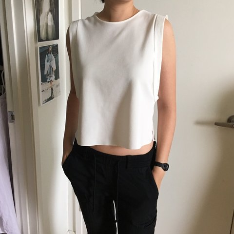 84f34cb501 Zara basic tank slightly cropped, dress up or down with or - Depop