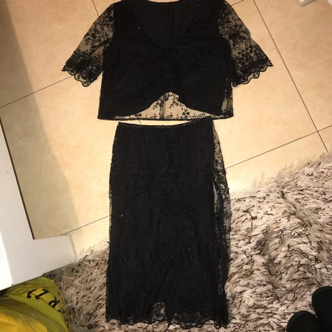 86a14d5f5986fb Beaded co ord 2 pieces- 0