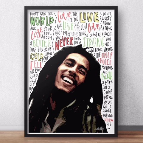A4 Bob Marley Print Quotes Hand Drawn By Me Doesnt Depop