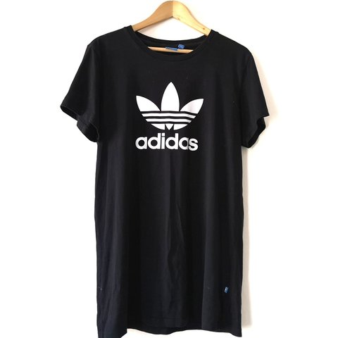 27852ffb0bc9 @pixie1387. last month. United Kingdom, GB. Lovely Adidas Originals black  and white Trefoil logo oversized T-shirt dress. Size 14 (will fit ...