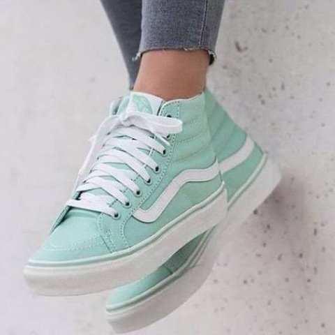 2153d37fac8 Mint green  vans. High top vans. Perfect for summer! Women s - Depop