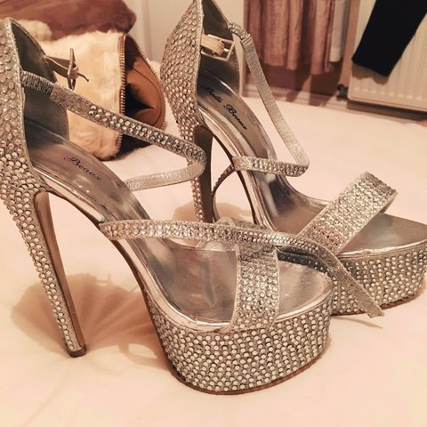 76b06001c4f4 Very high sparkly shoes size- 0