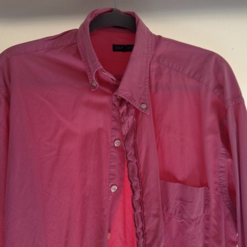 bb56f67739 mens size m gant pink shirt can we worn oversized  as a for - Depop