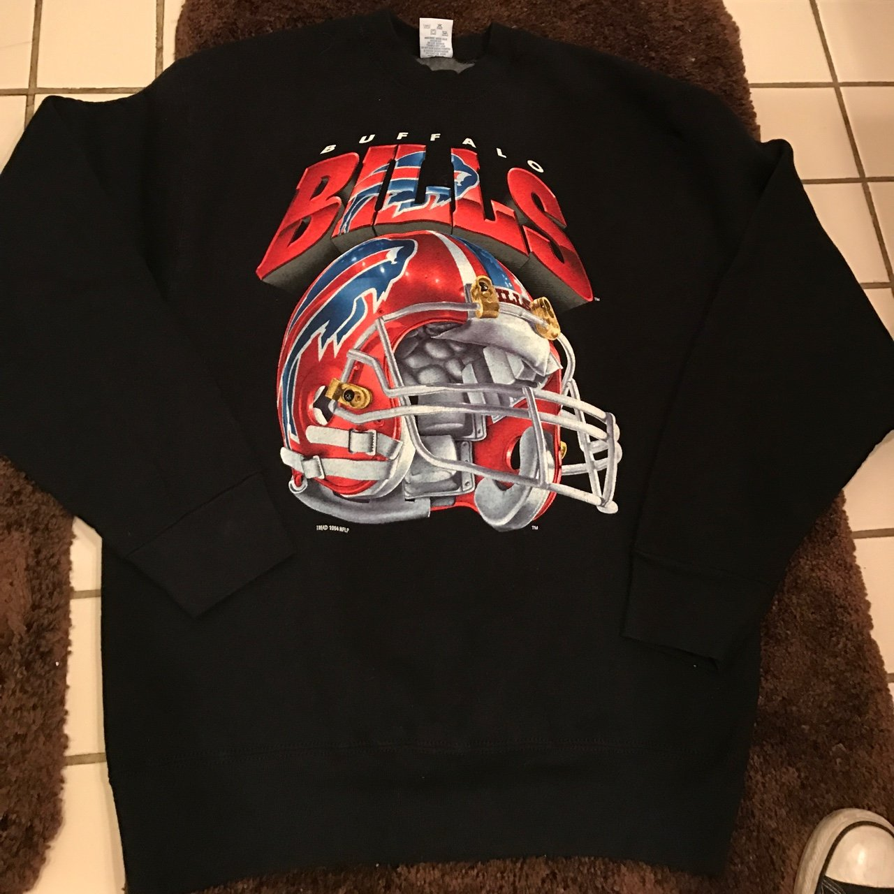 Nfl buffalo bills crewneck large made by Salemignore---  nba - Depop 4862b5870