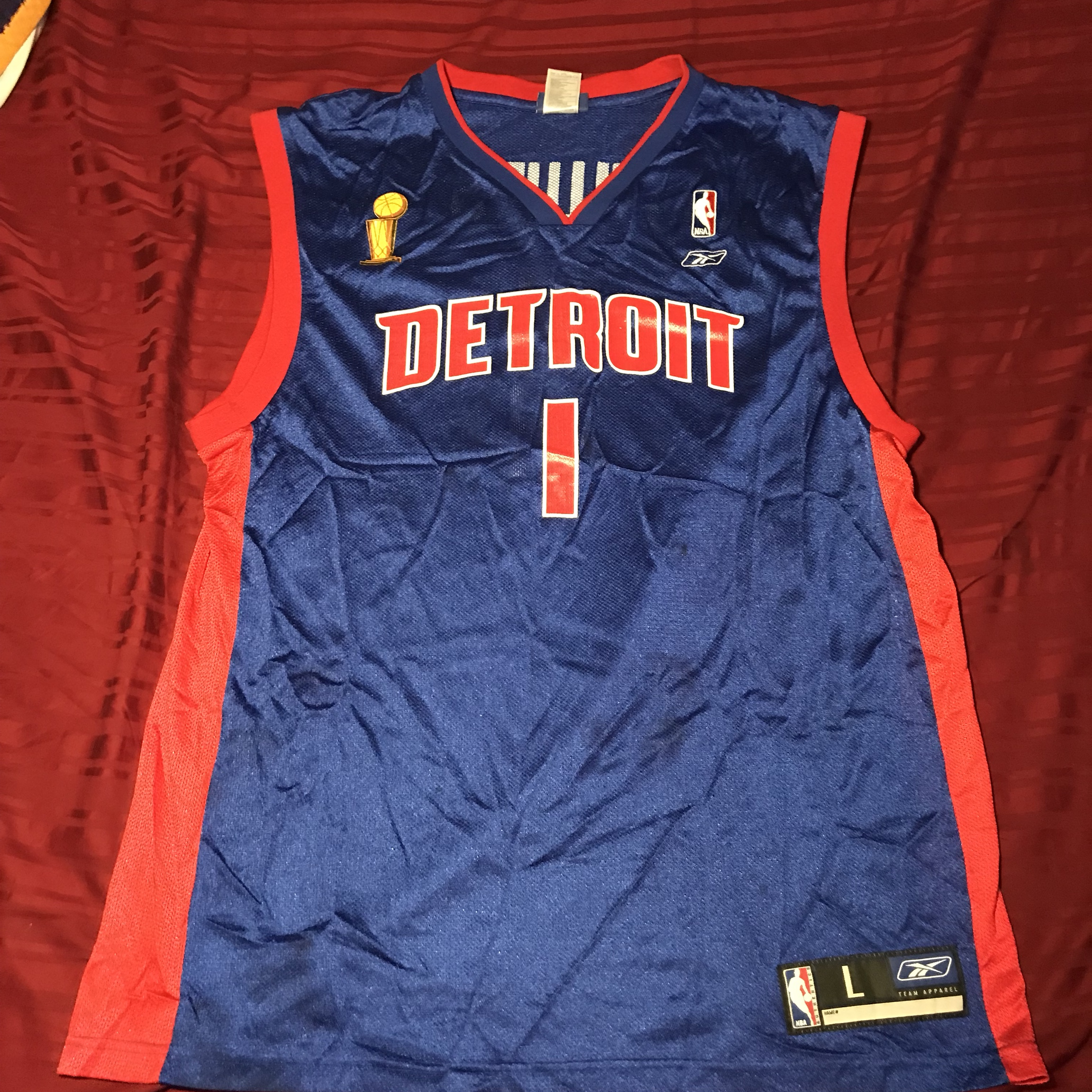 check out 9b90c 988ef Detroit pistons Chauncey Billups jersey throwback... - Depop