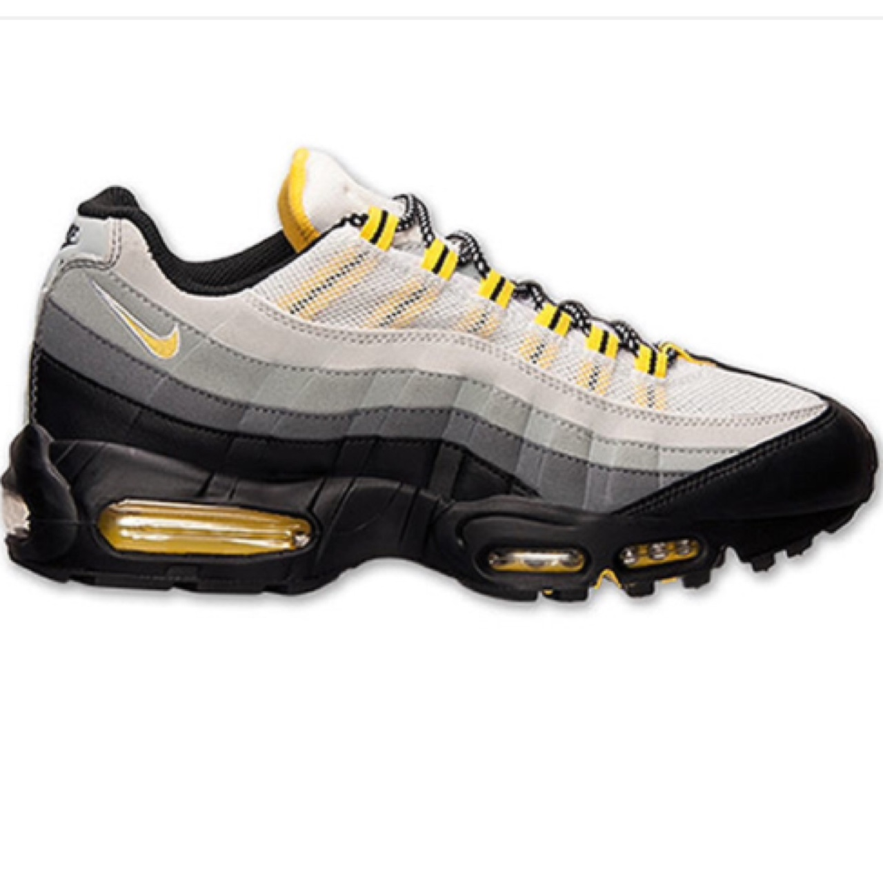 buy online 60775 0594e Nike Air Max 95.Black/Tour Yellow-Anthracite-Cool... - Depop