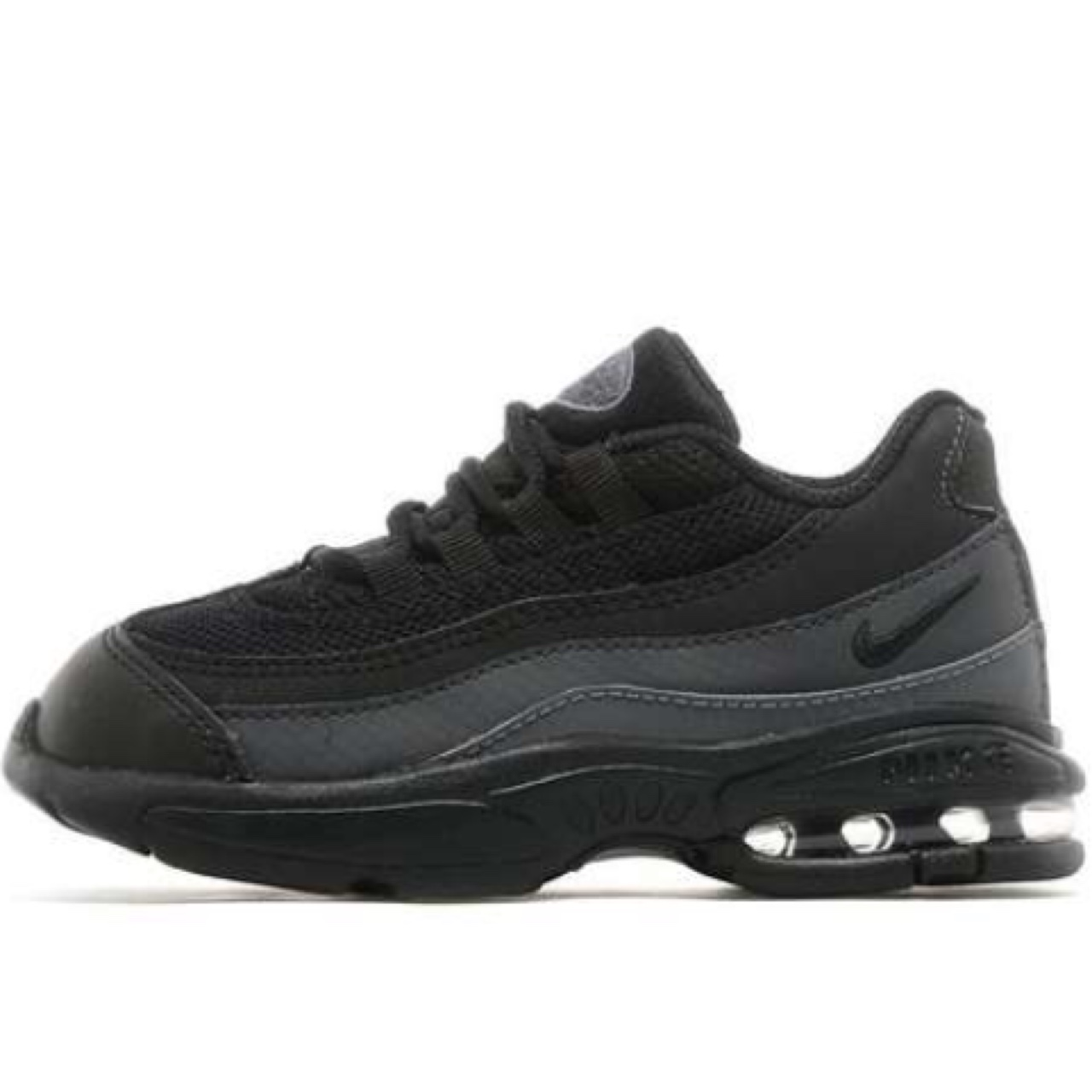 promo code cfec6 3c30b Nike air max 95 infant. Black. They are the kids... - Depop