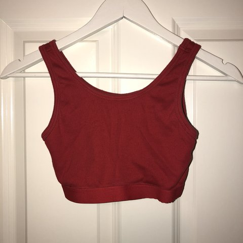 d3a4f160f1b @lydiaplant19. last year. Hertfordshire, UK. Topshop Red Crop Top Size 8.