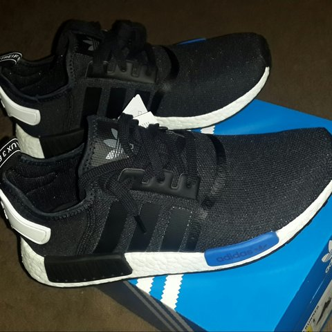 d16236386 Adidas NMD Runner. SOLD OUT EVERYWHERE! Black   Blue. Size 5 - Depop